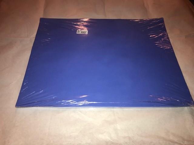 "Paper, Dark Blue, Construction, 18""x24"", 80#, 100% Vat Dyed Sulphite, 50sheets/package"