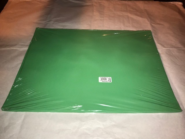"""Paper, Festive Green, Construction, 18""""x24"""", 80#, 100% Vat Dyed Sulphite, 50sheets/package"""