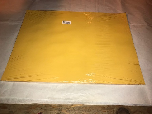 """Paper, Gold, Construction, 18""""x24"""", 80#, 100% Vat Dyed Sulphite, 50sheets/package"""