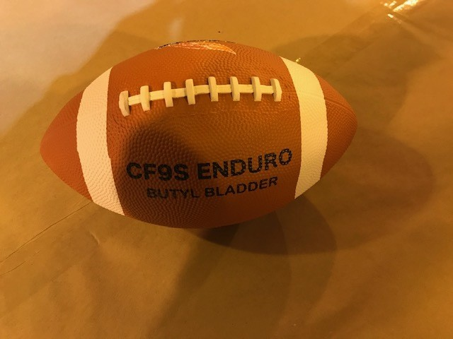 Football, rubber covered, senior size/regulation