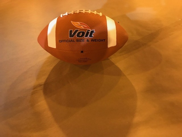 Football, rubber covered, intermediate size