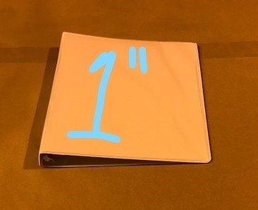 "Binder, 3 Ring , 8-1/2"" x 11"", 1"" capacity, White vinyl"