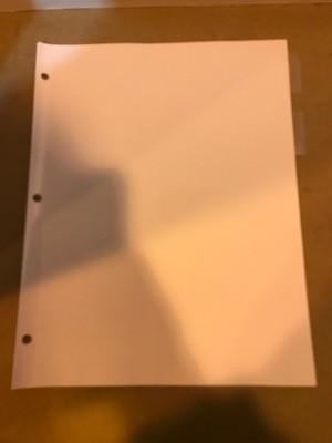 Divider Sheets, 5 tabs/set for 3-ring binder, Clear Tabs. 48 sets per box