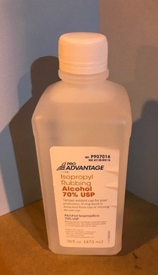 Alcohol, 70% Absolute Isopropyl, 16 oz.