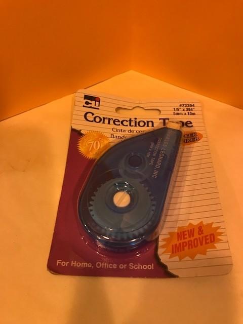 Correction Tape, White Out, DISPENSER W/READY-WRITE FILM