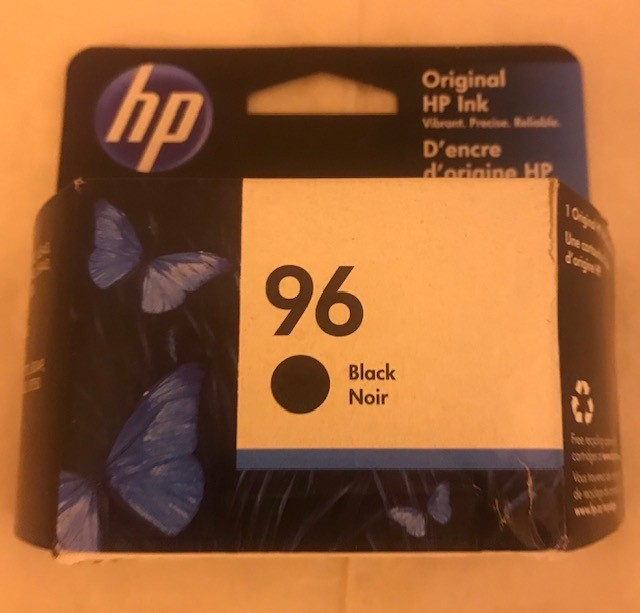 Cartridge, Ink, Black HP #96