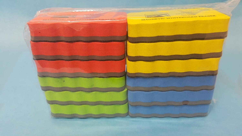 Eraser, Multipurpose, Dry Erase & Chalkboards, 12ea / pack