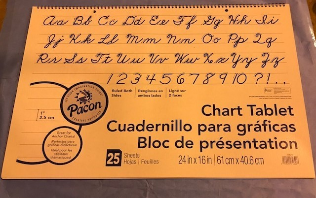 """Chart Tablet, 24""""x16"""", 1"""" Ruled, 25 sheets/pad 24 PER CASE"""