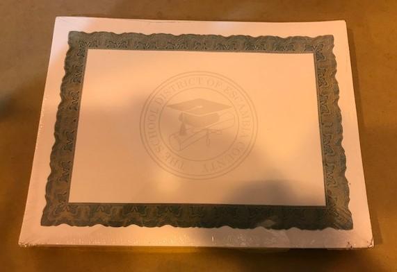 Certificate, Award, Green & Gold Boarder, 100/Pack