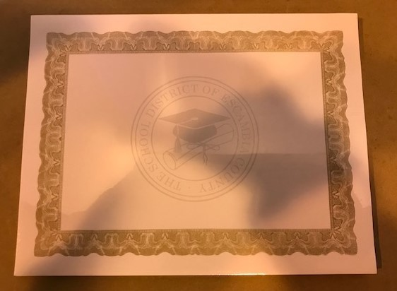 Certificate, Award, Gold Boarder, 100/Pack