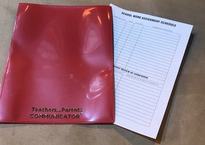 Nicky Folder, Red, Communicator (Order 50 per box) 300/cs