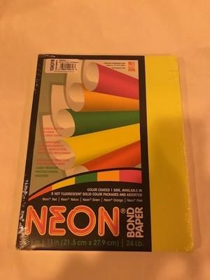 Paper, Neon Yellow, 24#, 8 1/2