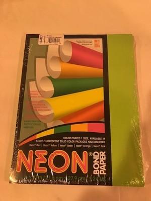 Paper, Neon Green, 24#, 8 1/2