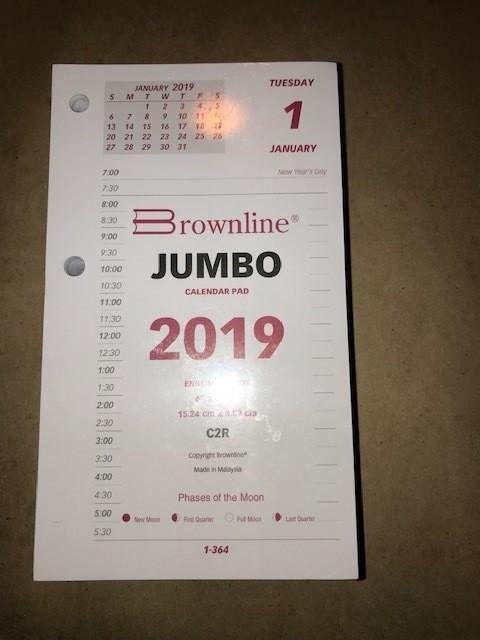 """Calendar, Refill, 717, 3- 1/2"""" X 6"""""""