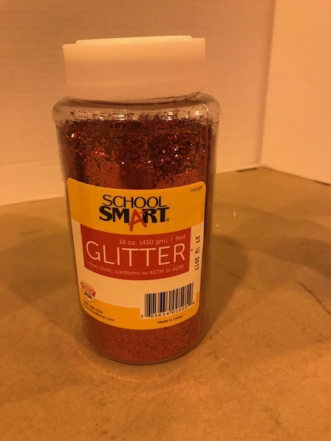 Glitter, Red, Extra Fine, 1lb/btl,