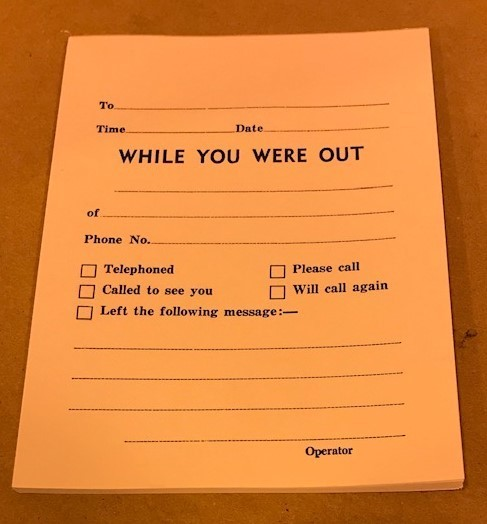 "Pad, Memo,""WHILE YOU WERE OUT"" 50 sheet/Pad"