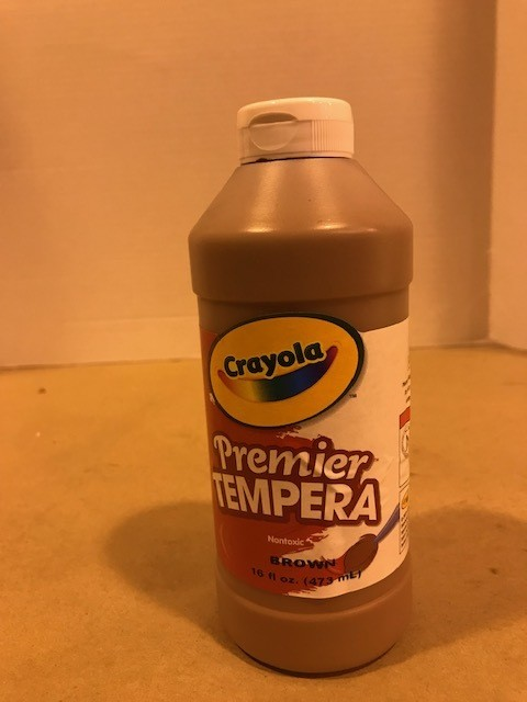 Paint, Tempera, Brown, liquid, squeeze bottle