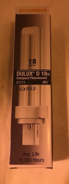 BULB, FLUOR, 18 W DULUX D SYLVAN 21111