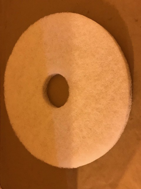 """PAD, BUFF 14"""" WHITE #54205 FIT NOBLES AUTOSCRUBBER 2601"""