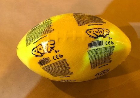 Foam ball, vinyl coated, junior size