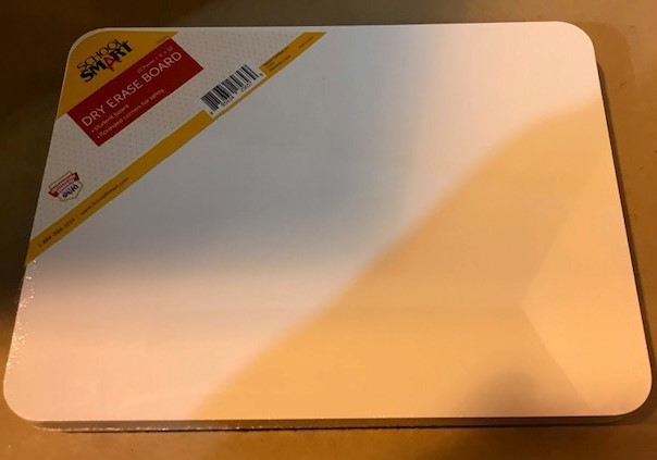 """White Board, 9"""" X 12"""" Dry Erase, 10 Each/Pk"""