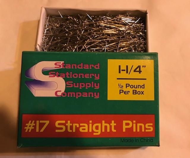PINS, BANK, STRAIGHT, 100/BOX