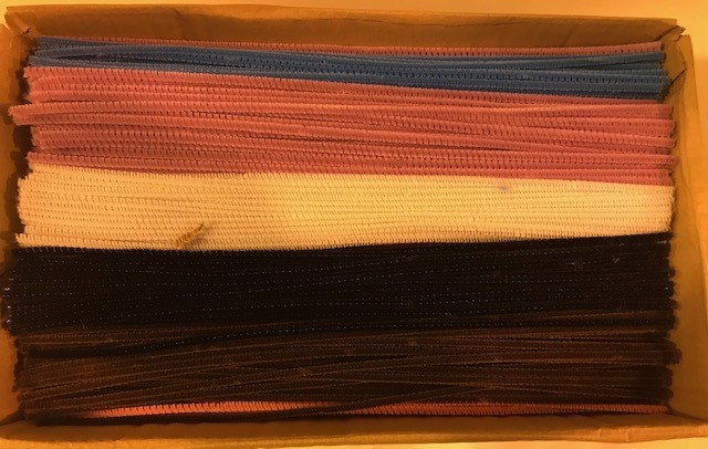 Pipe Cleaner, Chenille Kraft, assorted colors (Bright) NOT Fluorescent