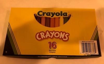Crayons, large wax, non-toxic, 4