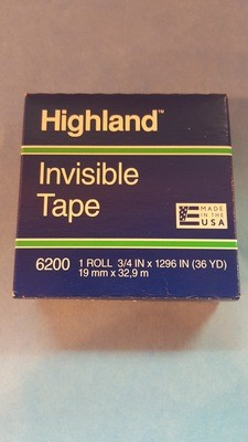 Tape, Frosted, Mending, 3/4