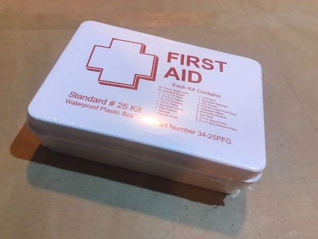 "First Aid Kit, 11"" x 7 1/2"" x 2 1/2"", 25 person"