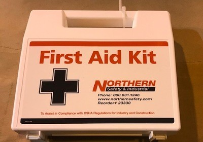 First Aid Kit with Tourniquet 25 person-like those supplied by Protective Services