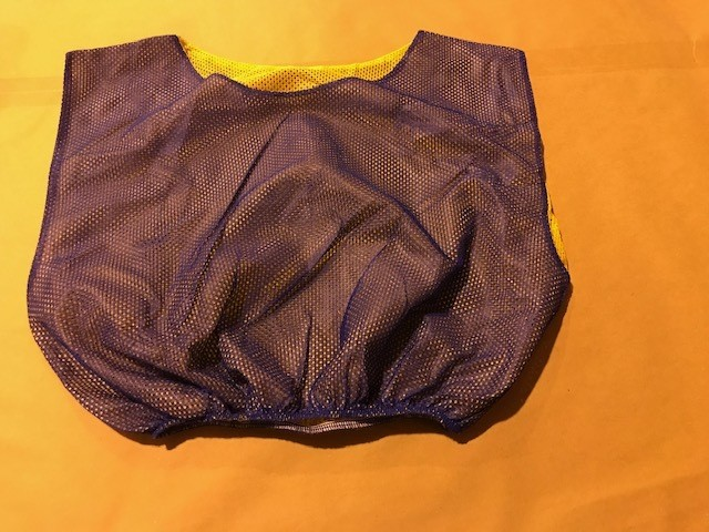 Scrimmage Vests, reversable, adult sizes, royal blue/gold 10 per case