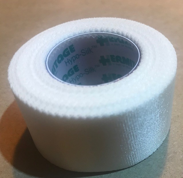 """Tape, Adhesive, Water Resistant, 1"""" x 10 Yards, Hypo-Allergenic, Latex Free Adhesive"""