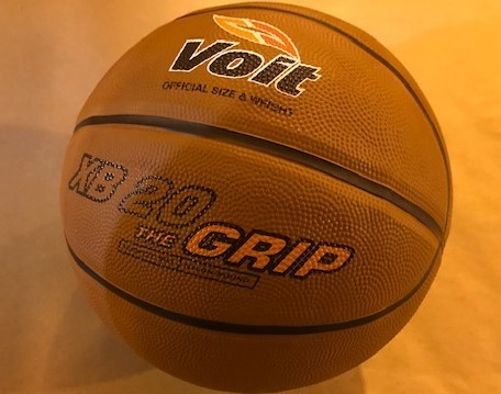 "Men's Basketball, Regulation Size, 29.5"", game ball, indoor/outdoor"