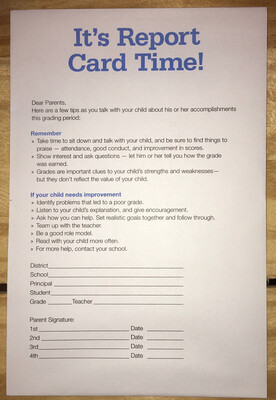 Report Card Envelope, Elementary & Middle ****125/pack*****