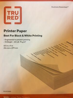 White, Duplicating Paper, Multi-Purpose, 20#, 8-1/2x11, #4 Sulphite for Copiers