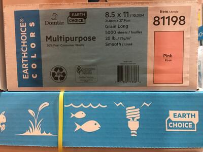 Pink, Duplicating Paper, Multi-Purpose, 20#, 8-1/2x11