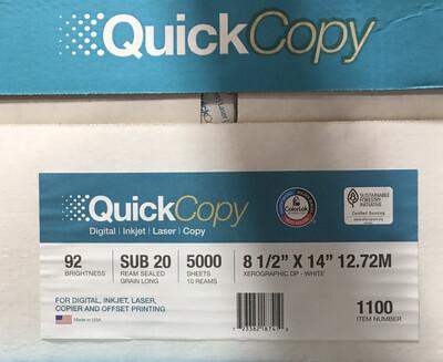 White, Legal Duplicating Paper, Multi-Purpose, 20#, 8-1/2x14