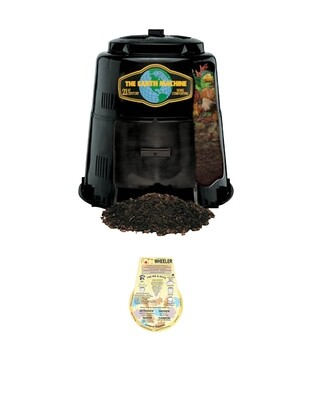 Earth Machine Backyard Compost Bin - includes the Rottwheeler educational guide wheel.
