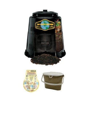 KIT 1 - Earth Machine Compost Bin with Rottwheeler and Kitchen Collection Pail.