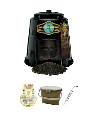 KIT 2 - Earth Machine Composter with a Rottwheeler, Kitchen Scrap Collection Pail & Aerator.