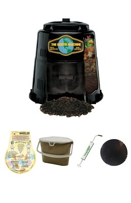 KIT 4 - BEST VALUE: Includes the Earth Machine Composter, Rottwheeler, Kitchen Scrap Pail, Wingdigger Aerator & Rodent Screen.