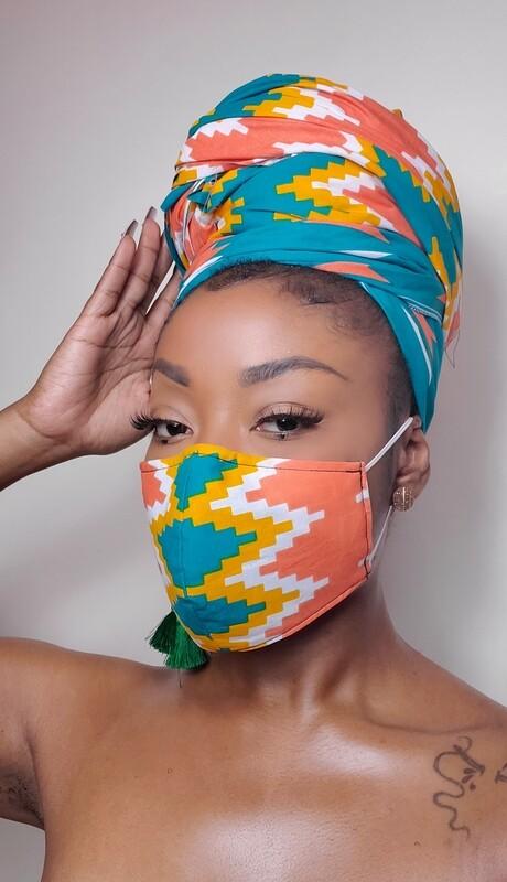 Summer Daze (Headwrap & Mask Set)