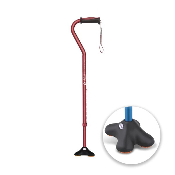 Airgo® Comfort-Plus Cane, Offset Handle, MiniQuad Ultra-Stable Tip