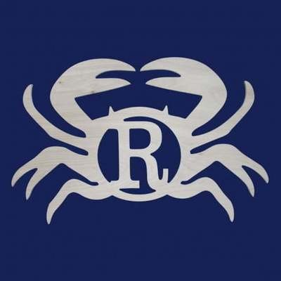 Crab Wood Monogram
