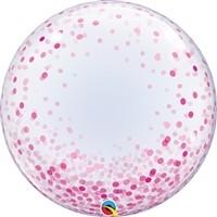 24 inch DECO BUBBLE PINK Confetti Dots