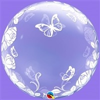 24 inch DECO BUBBLE  ROSES AND BUTTERFLIES