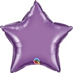 20 inch CHROME PURPLE Qualatex Star Foil Balloon, Price Per EACH