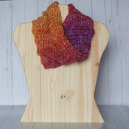 Sunset Ribbed Cowl