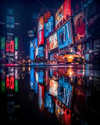 NEW YORK CITY NIGHT TAXI 3